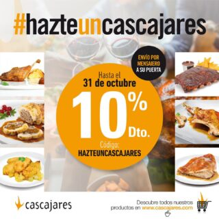 Durante el mes de octubre #HazteunCascajares aprovechando el 10% de descuento en nuestra tienda online. Te lo llevamos a casa, Cascajares cocina por ti www.cascajares.com