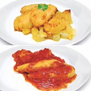 Seguimos trabajando y presentando novedades. Disfruta con estas deliciosas pechuguitas de pollo listas para calentar tres minutos y comer. Con salsa de tomate o al ajillo, tú eliges. Ya a la venta en nuestra tienda online www.cascajares.com #HazteunCascajares